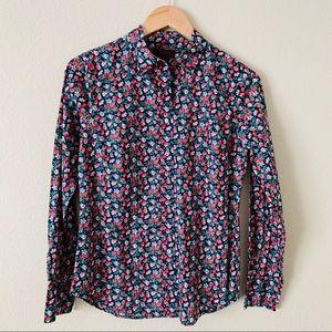 J. Crew Slim Perfect Shirt Liberty Sarah Floral